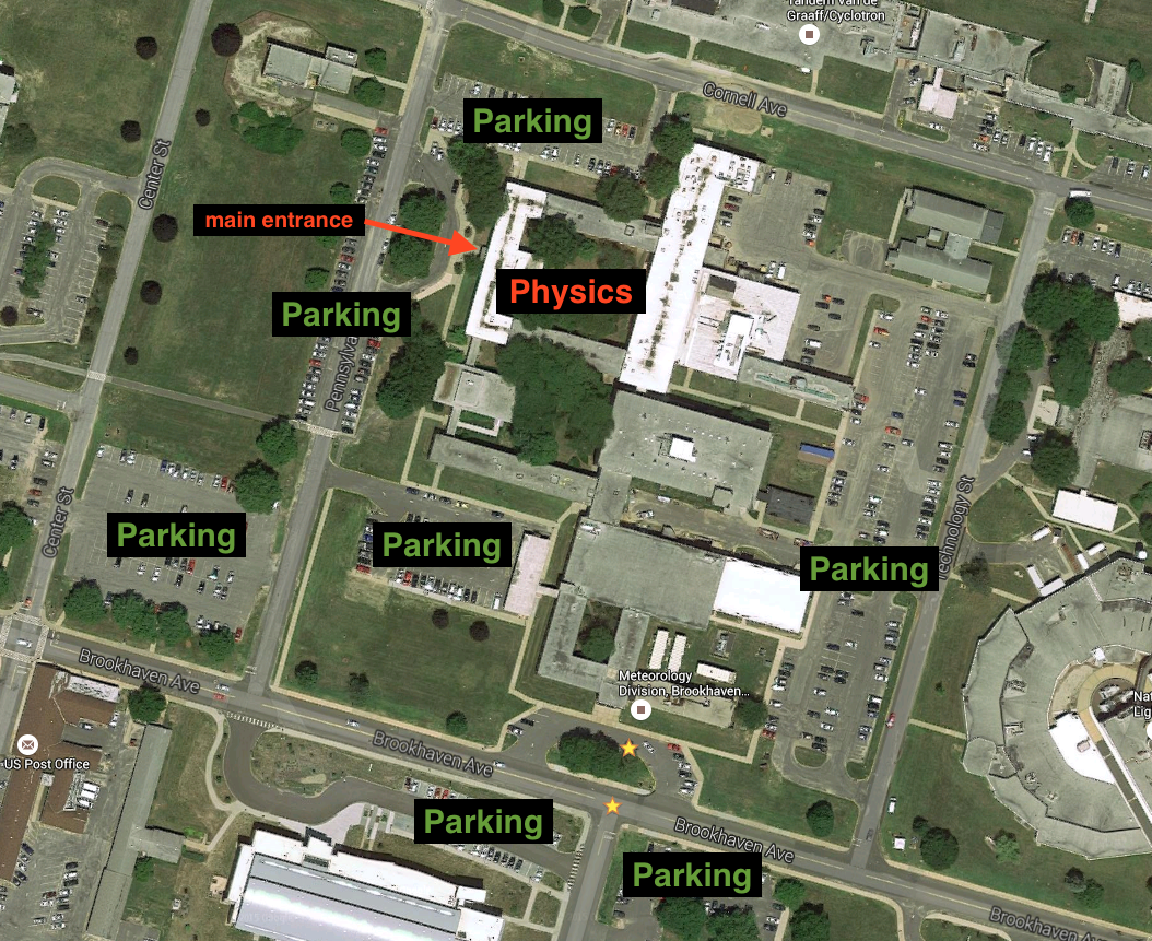 physics parking and entrance